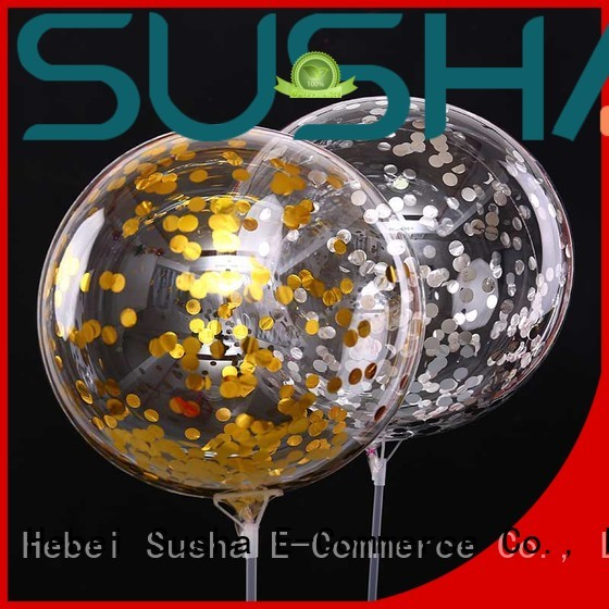 Susha confetti balloons China factory for celebration activities