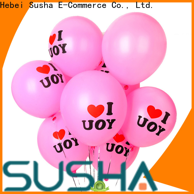 Susha heart-shaped confetti balloons China factory for birthday parties