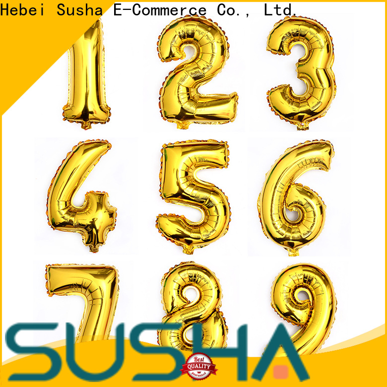 Susha number foil heart balloons wholesale for proposal