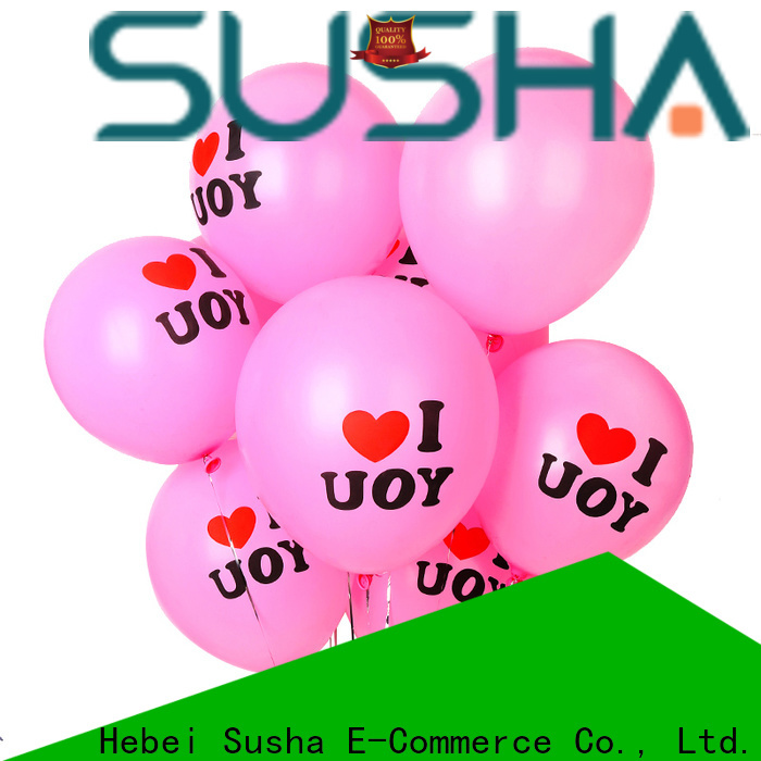 Susha peacock latex balloons manufacturer for birthday parties