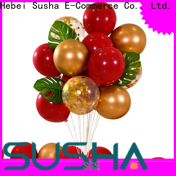 Susha transparent latex balloons China factory for celebration activities