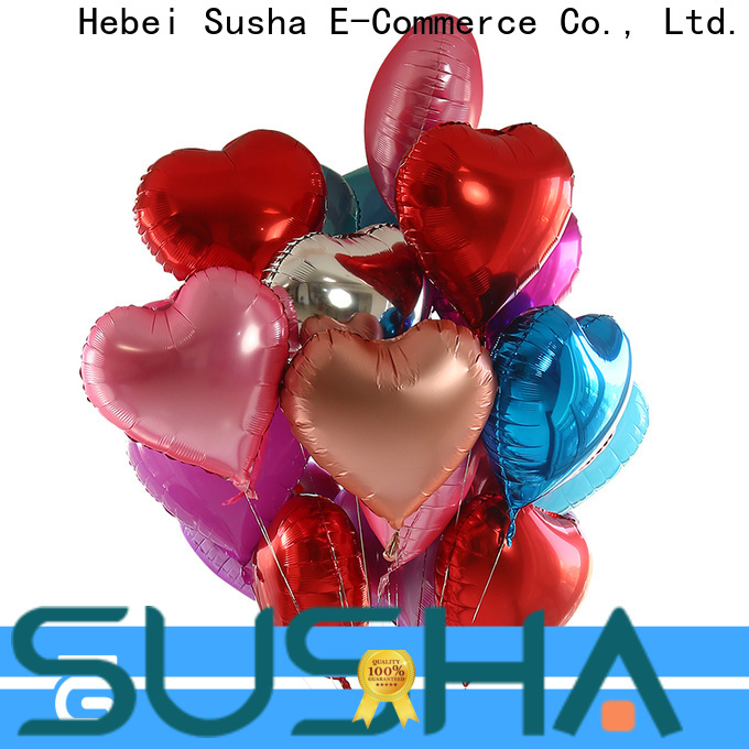 clover foil heart balloons wholesale for birthday