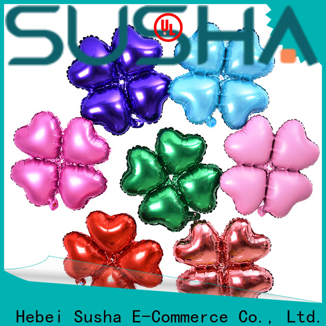 Susha clover foil balloons manufacturer for wedding