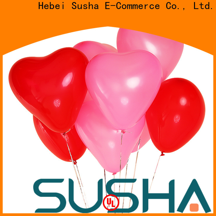 Susha heart-shaped party balloons China factory for celebration activities