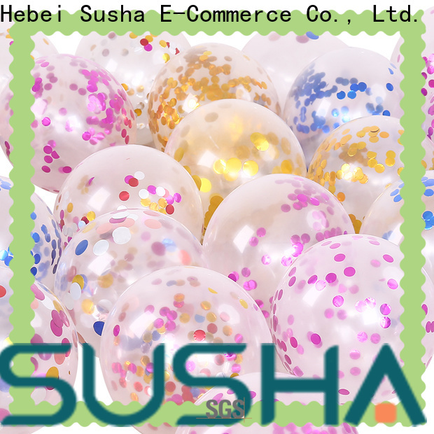 Susha confetti latex balloons China factory for wedding