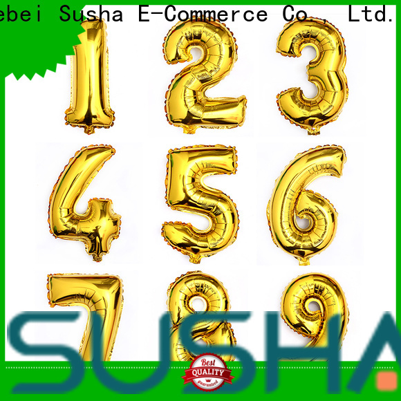 Susha foil number balloons wholesale for anniversaries
