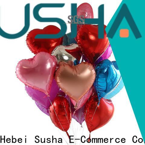 Susha clover foil number balloons manufacturer for wedding