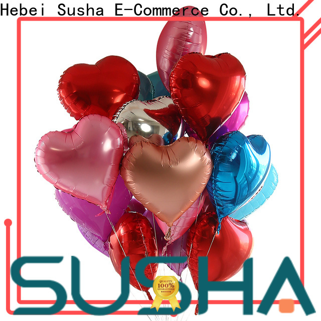 Susha foil heart balloons manufacturer for engagement