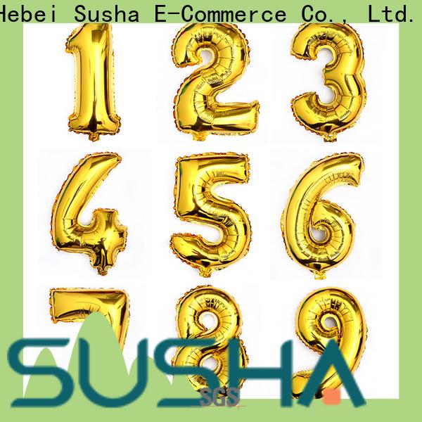 Susha clover foil heart balloons wholesale for birthday