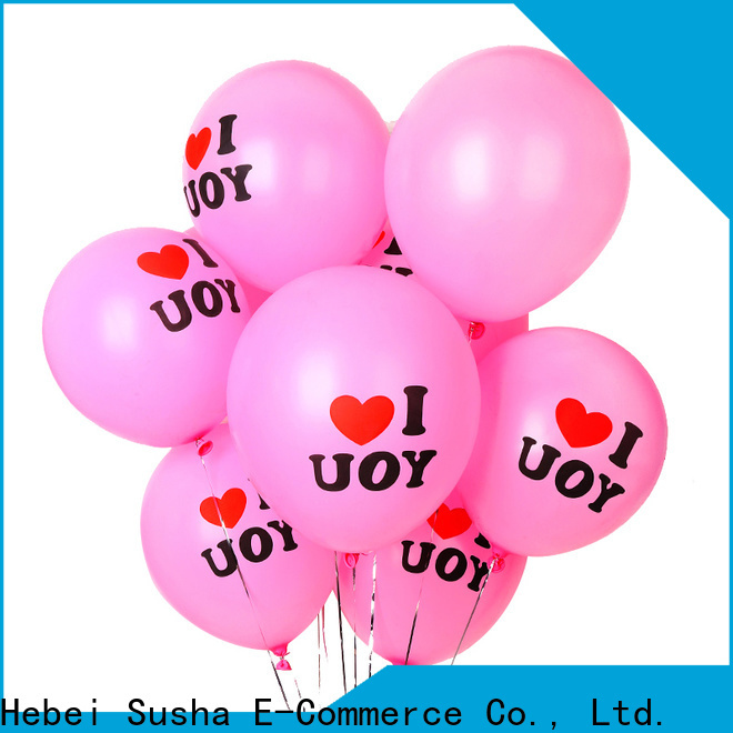 Susha clear latex balloons factory for wedding