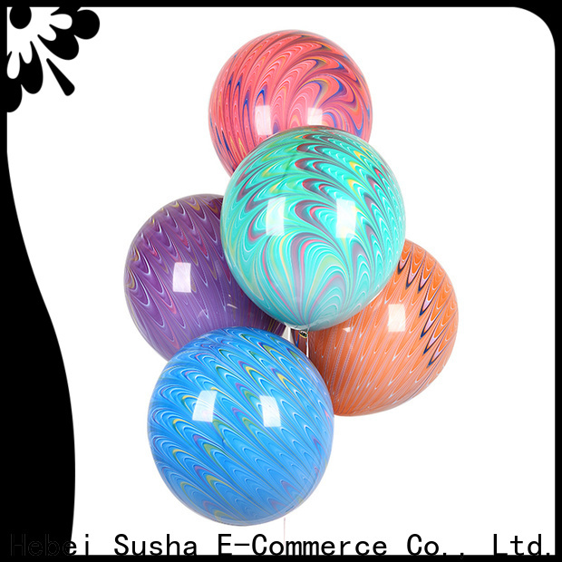 Susha 18 inches agate balloon manufacture for wedding