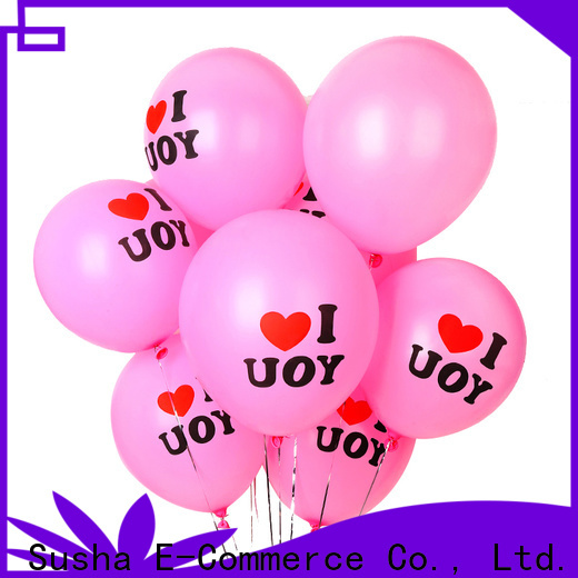Susha transparent metallic latex balloons China factory for wedding