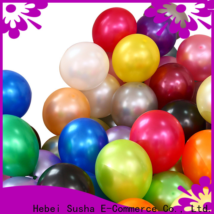 Susha round latex balloons factory for celebration activities