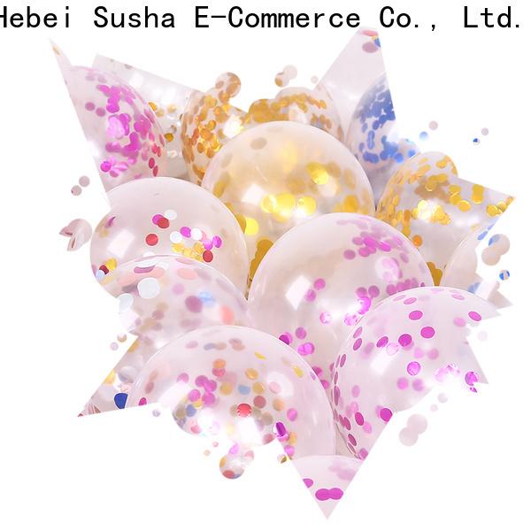Susha latex confetti balloons China factory for birthday parties
