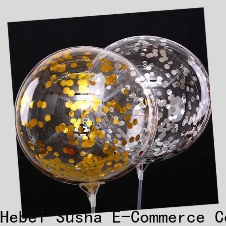 Susha Bulk purchase OEM latex helium balloons manufacturers for birthday parties