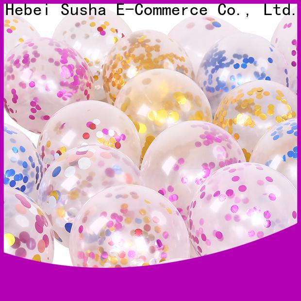 Susha metallic latex balloons Supply for celebration activities