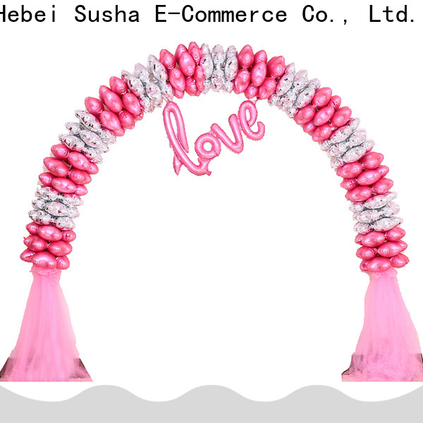 Susha New clear balloon sticks and cups factory for celebration activities