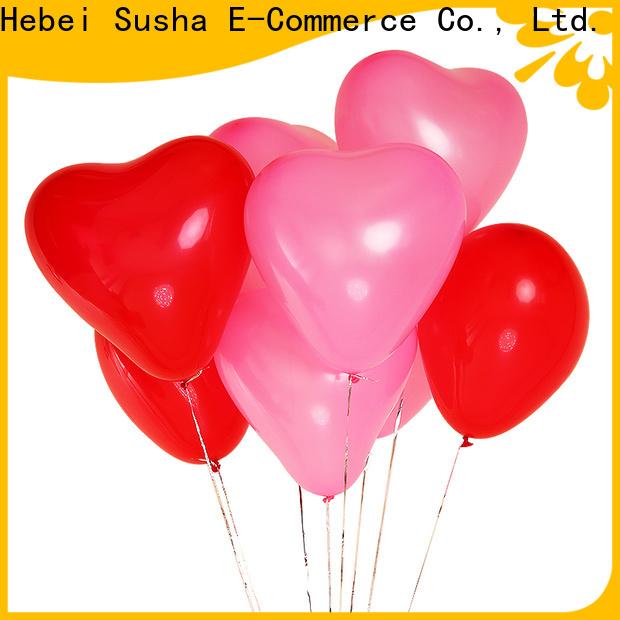 Susha round latex balloons company for celebration activities