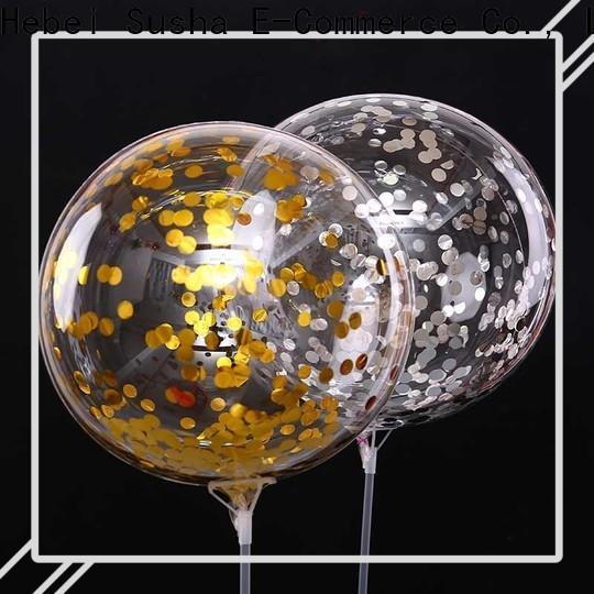 Susha Wholesale OEM metallic latex balloons China factory for birthday parties