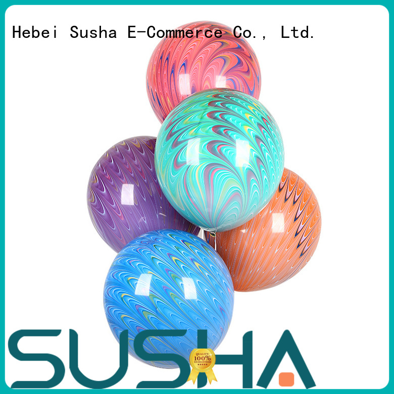 Susha transparent latex balloons China factory for birthday parties