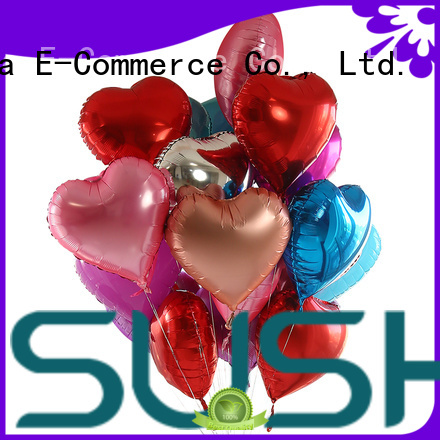 Susha clover foil heart balloons wholesale for proposal