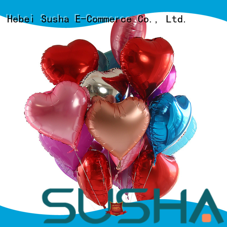 Susha aluminum foil heart balloons manufacturer for engagement