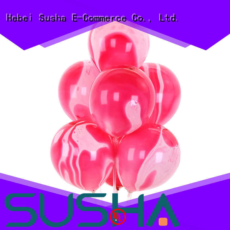 Susha confetti latex balloons manufacturer for celebration activities