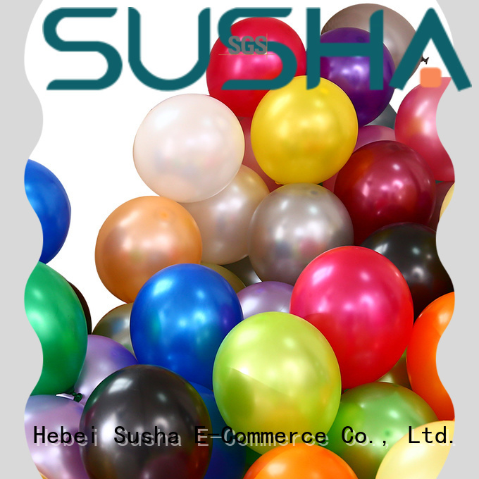 Susha romantic latex balloons China factory for wedding