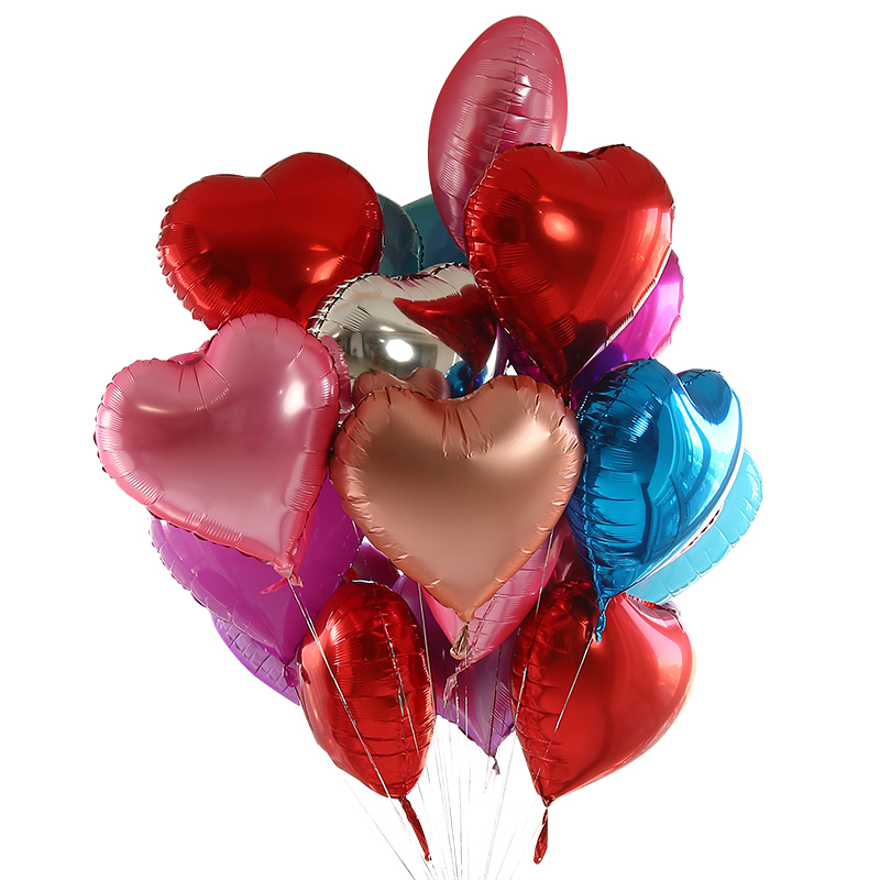The Balloon Class 18 Foil Heart Balloons