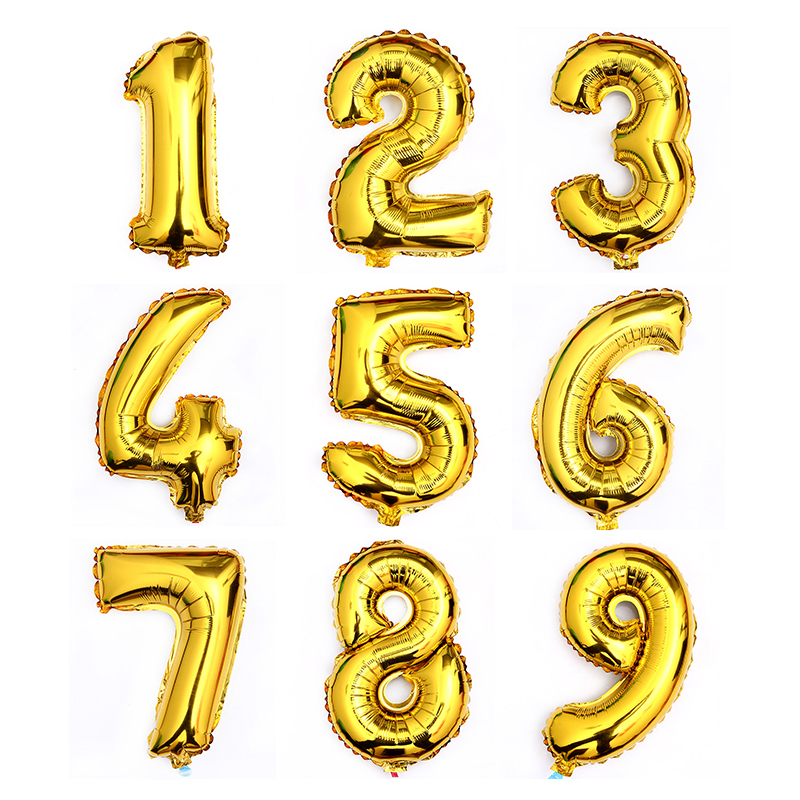 Foil Number Balloons Digital Foil Balloon