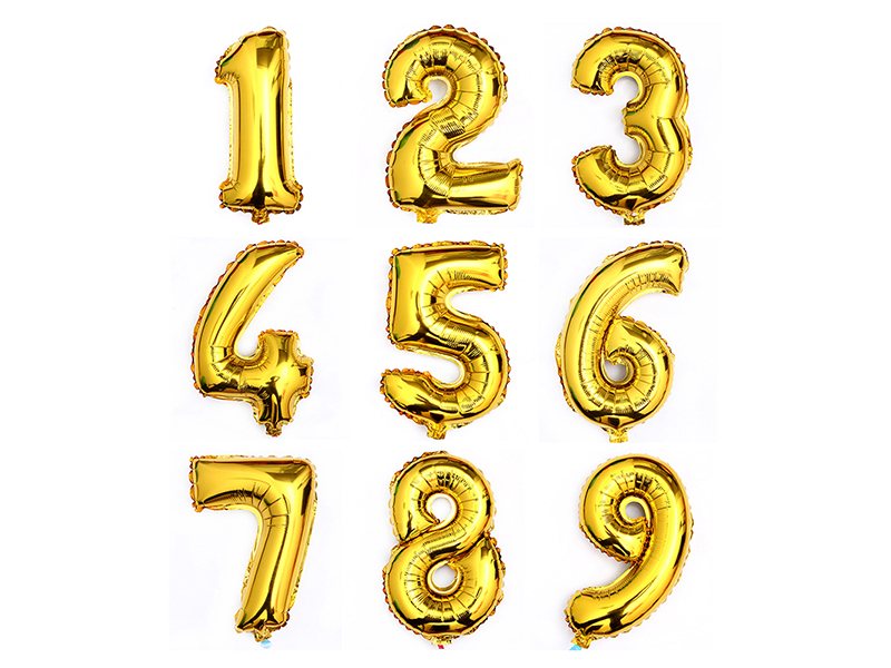 Gold foil digital balloon