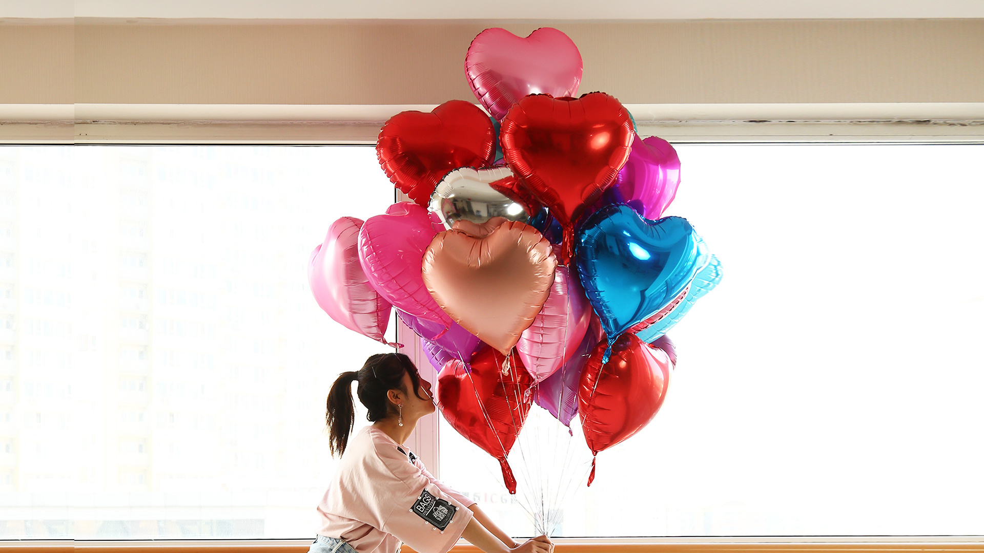 Heart-shaped Aluminum Foil Balloon