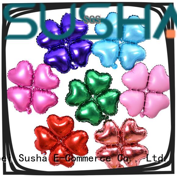 Susha clover foil heart balloons online for anniversaries