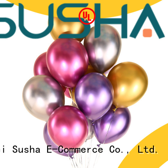 Susha transparent confetti balloons China factory for birthday parties
