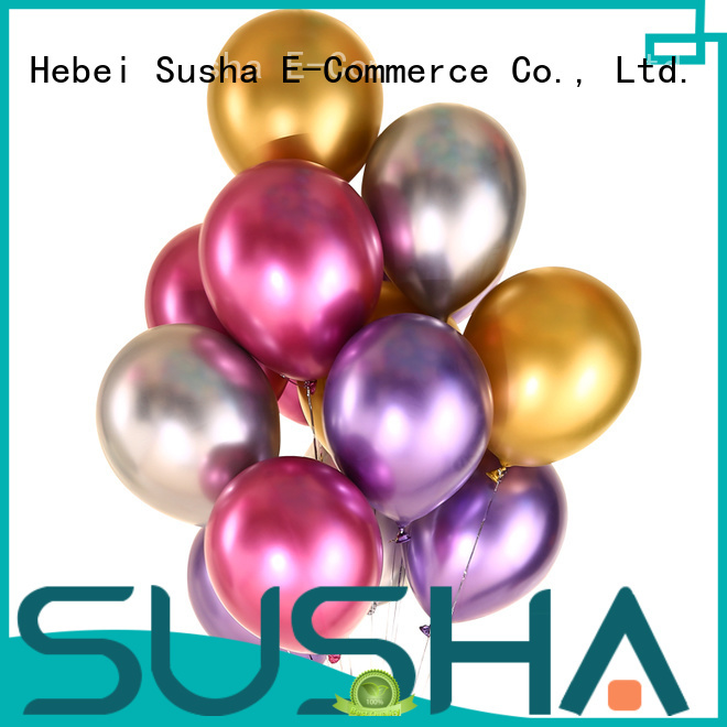 Susha latex balloons China factory for wedding
