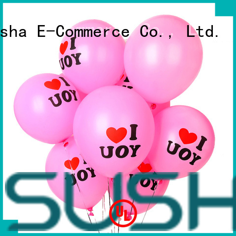Susha transparent party balloons China factory for wedding