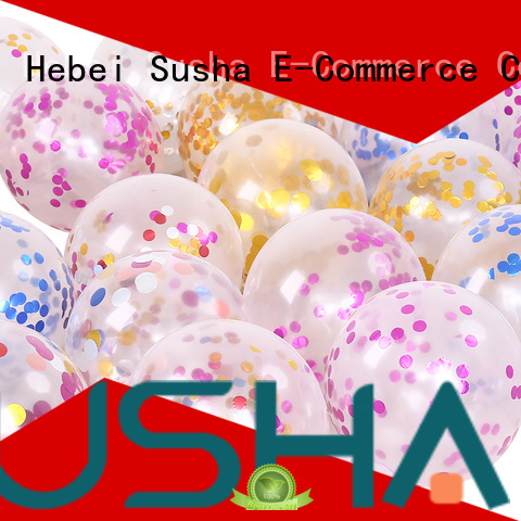 Susha transparent latex balloons manufacturer for birthday parties