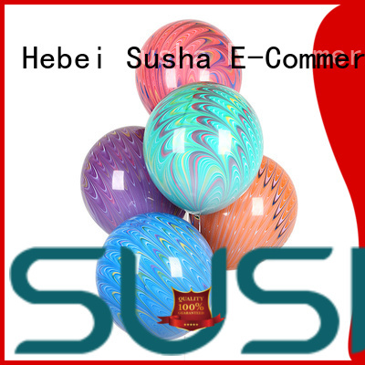Susha transparent confetti balloons China factory for wedding