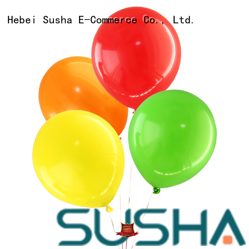 Susha latex balloons China factory for birthday parties