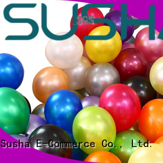 Susha latex balloons China factory for celebration activities