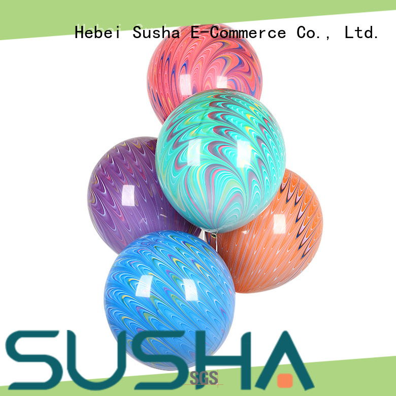 Susha latex free balloons China factory for wedding