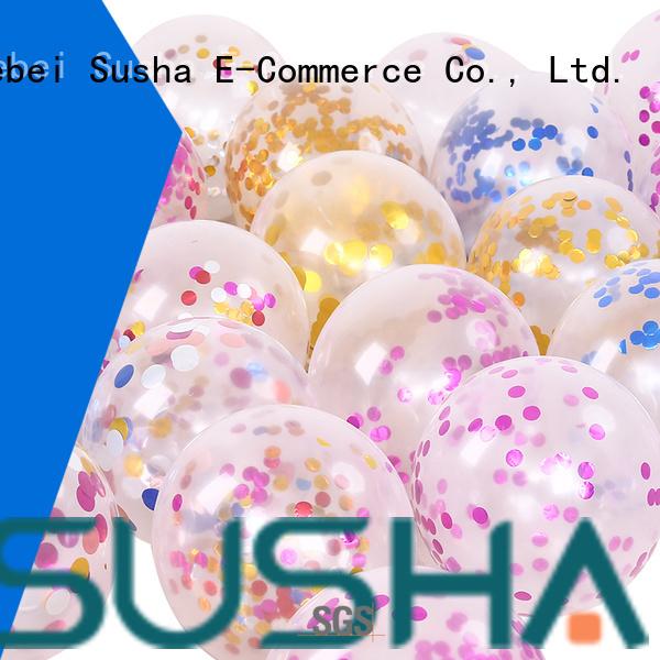 Susha transparent latex balloons China factory for wedding