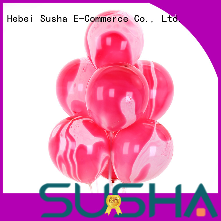Susha peacock latex balloons manufacturer for celebration activities