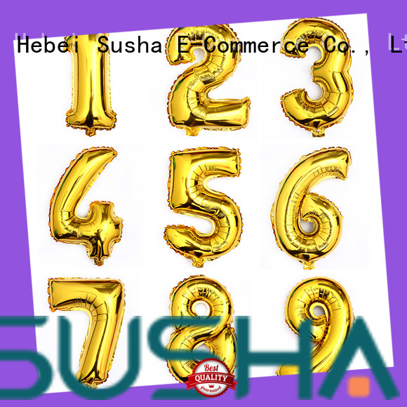 Susha dedicated foil number balloons online for engagement