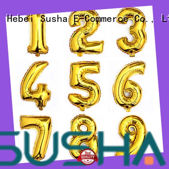 Susha dedicated foil number balloons online for engagement