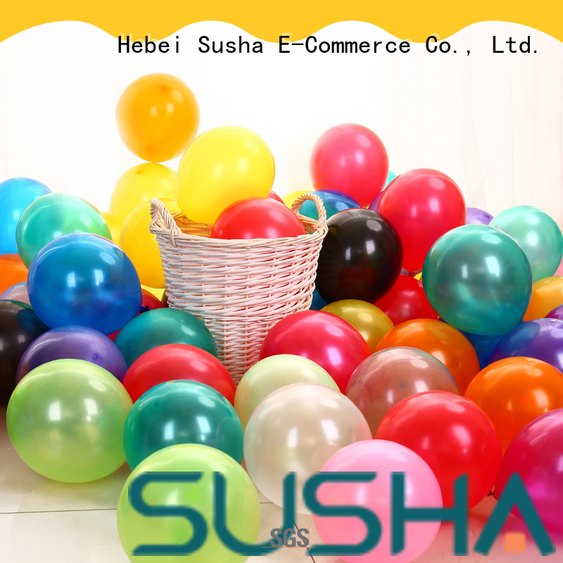 Susha 18 inches latex balloons China factory for birthday parties