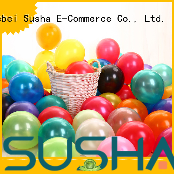 Susha transparent latex balloons manufacturer for celebration activities