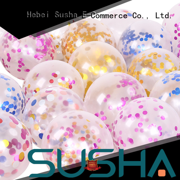 Susha latex balloons manufacturer for celebration activities