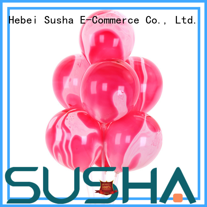 Susha confetti latex balloons manufacturer for birthday parties