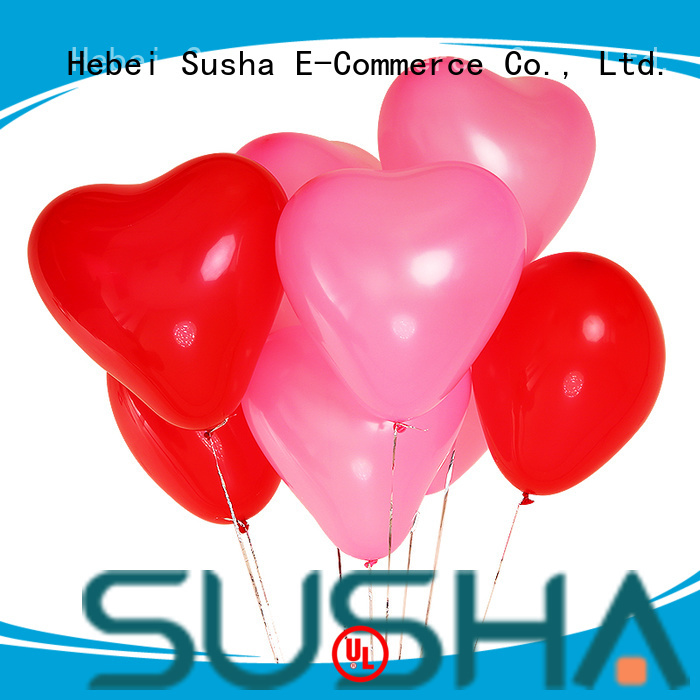 Susha latex balloons China factory for birthday parties